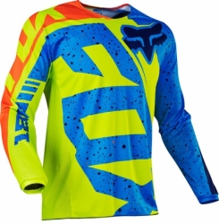 Dětský MX dres Fox Racing Kids 180 Nirv Jersey Yellow/Blue