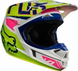Dětská MX helma Fox Racing Yth V1 Falcon Helmet, ECE Navy/White